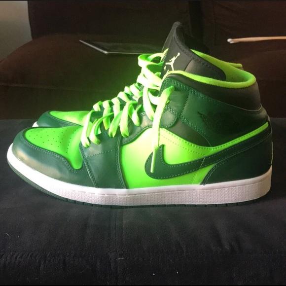 5e525167c8b Jordan Shoes | Air 1 Mid Electric Greengorge Green Sz11 | Poshmark